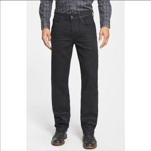 Mens Hudson Byron Five Pocket Straight Jeans Black
